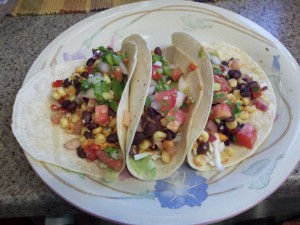 Roasted Corn & Black Bean Tacos