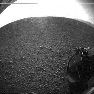 First image from Curiosity on Mars